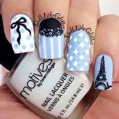 paris by dulllikeglitter  #nail #nails #nailart