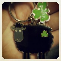 So many things in one pic: my car keyring, my being a devoted black sheep, and my Soul's home...
