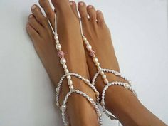 Check out this item in my Etsy shop https://www.etsy.com/listing/511868184/beach-wedding-barefoot-sandals-with-a