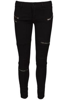 R-Display zipper pants sort