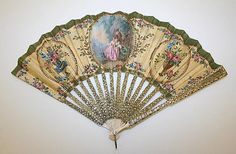 Fan. Date: late 19th century. Culture: French Medium: silk, metal, ivory