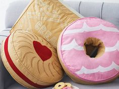 Biscuit cushions, cute perfect for kitchen nook