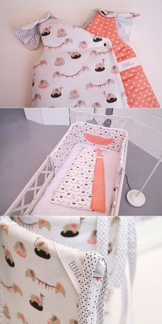 Crib/cot bumper and baby's sleeping bag