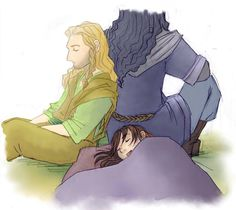 Thorin on Night Duty. fili and kili