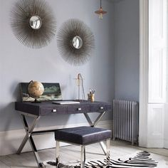 Grey Home office, fisherman light