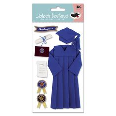 Jolee's Boutique® | Cap and Gown Stickers Blue  $5.49