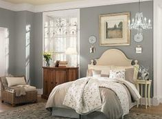10 Relaxing, Yet Sophisticated, Paint Colors for the Bedroom: Puritan Gray