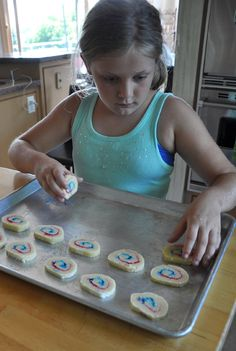 Forth of July Cookies in Red, White and Blue — So easy the kids can make them!
