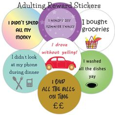 Adulting stickers adult reward stickers by PaperSpaceBoutique