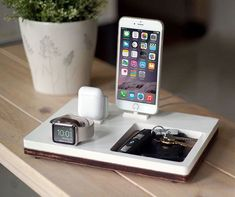 NytStnd AIRPODS TRIO 3 White  FREE 2 Day Shipping Dock #iphoneairpods,