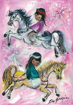 """I only paint eyes on the children in my paintings, because children have the freedom of expression that most adults lack."" –DeGrazia"