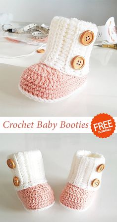 Baby Booties Crochet, Who doesn't love sweet little infant toes? Unfortunately, these toes may also get chill Stylish Crochet baby booties pattern Crochet Baby Boots, Baby Girl Crochet, Crochet Baby Clothes, Crochet Slippers, Crochet For Kids, Knitted Baby, Knit Baby Booties, Crochet Diy, Crochet Ideas
