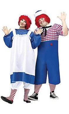 Adult Raggedy Ann & Andy Couples Costumes Plus Size Couples Costumes Adult, Funny Couple Costumes, Funny Couples, Plus Size Halloween, Adult Halloween, Halloween 2017, Halloween Ideas, Happy Halloween, Funny Disney Shirts