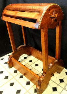 barrel shape saddle rack.  design idea for mounting the saddle swing to.