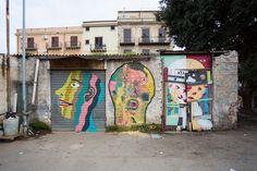 Graffiti, Street Art, Portrait, Palermo, Outdoor Decor, Painting, Murals, Street, Photography