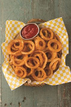 Emeril's Light & Crispy Fried Onion Rings with a Paleo Twist.  Gluten free, allergen free, and vegan, too!    Photo credit: Colin Lacy