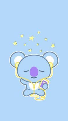 Kawaii Koala Duvet Cover by kawaiistudio - Queen: x Cute Disney Wallpaper, Emoji Wallpaper, Kawaii Wallpaper, Cute Cartoon Wallpapers, Wallpaper Iphone Cute, Aesthetic Iphone Wallpaper, Aesthetic Wallpapers, Iphone Wallpapers, Heart Wallpaper