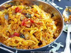 Spicy Deviled Cabbage Curry