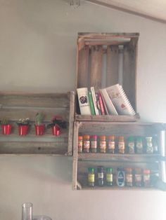 #caisse #crate #apple #collection #bois #etagere #mobilier #diy