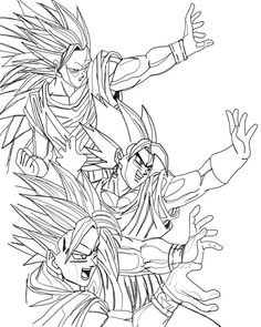 Collection Of Dragon Ball Z Coloring Pages. On this page, we have collected many cool coloring pictures of the Japanese anime series Dragon Ball Z to print and Baby Coloring Pages, Cat Coloring Page, Online Coloring Pages, Cartoon Coloring Pages, Coloring Pages To Print, Coloring Sheets, Coloring Books, Dragon Ball Gt, Dragon Ball Image