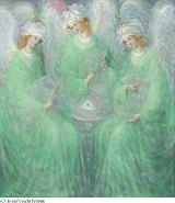 The Revelations of Spring (diptych Left panel), painting by Annael (Anelia Pavlova)