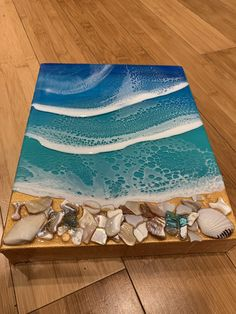 Excited to share this item from my shop: Resin wave art on birchwood panel Key West Sunset, West Art, 7 Layers, Shell Art, The Little Mermaid, Wrapped Canvas, Original Paintings, Resin, My Arts