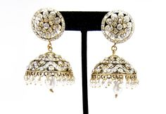 Checkout our #awesome product Imitation Designer Victorian Zhumka Bollywood Earring / AZERVE4004-GCL - Imitation Designer Victorian Zhumka Bollywood Earring / AZERVE4004-GCL - Price: $95.00. Buy now at http://www.arrascreations.com/imitation-designer-victorian-zhumka-bollywood-earring-azerve4004-gcl.html
