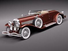 1935 Duesenberg SJ Roadster. 400hp supercharged V8s were in these. Muscles are always in style