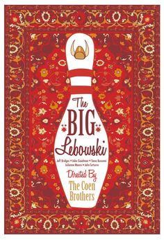 Maude Lebowski's Rug from 'The Big Lebowski' by CuteStreakDesigns #movies #poster