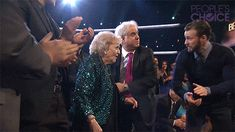 Chris Evans Goes Full Captain America, Escorts Betty White to the People's Choice Awards Stage | Vanity Fair