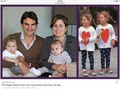 ROGER AND MIRKA FEDERER make twins twice.
