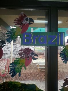 Handprint parrots- rainforest craft