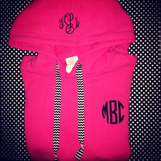 Monogrammed hoodie by themonogramaddict on Etsy $29.00
