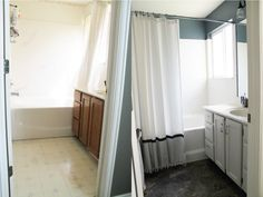 Before and After: Master Bathroom.