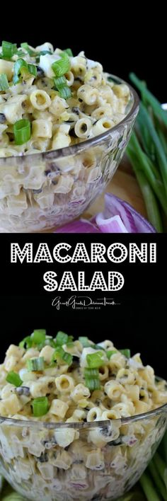 Macaroni Salad ~ Want a great tasting macaroni salad that is different from the norm? Salad Bar, Side Salad, Soup And Salad, Pasta Recipes, Salad Recipes, Cooking Recipes, Side Recipes, Easy Macaroni Salad, Cold Pasta