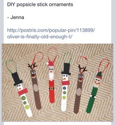 Popsicle ornament