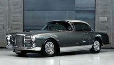 1963 Facel Vega HK 500 - The last in the 'European Styling mated to a US big block V8' series. (See below, for details on the Bristol 410 and the Chrysler Ghia, which complete the 'Holy Trinity'). So, here we have the coachbuilders, Facel Vega, about as French as a snail eating a garlic baguette, thrown in a blender, with 360hp of Chrysler Hemi Power. To give an idea of performance, Formula 1 World Champion, Sterling Moss, used to drive his to races, worldwide, rather than fly…