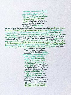 cross made out of handwriting
