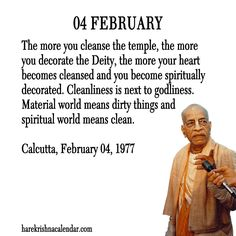 04 February  For full quote go to: http://quotes.iskcondesiretree.com/04-february/  Subscribe to Hare Krishna Quotes: http://harekrishnaquotes.com/subscribe/