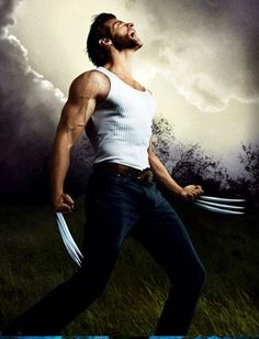 There's something about a Man in a white tank and claws...whoa!