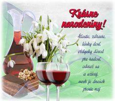 narodeninové priania – pre potešenie duše Red Wine, Alcoholic Drinks, Happy, Food, Tiramisu, Women's Fashion, Google, Fotografia, Flowers For Birthday