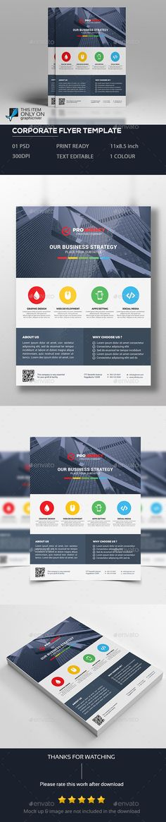 Corporate Flyer Template PSD. Download here: http://graphicriver.net/item/corporate-flyer/15714770?ref=ksioks