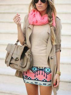 Adorable tribal skirt fashion inspiration