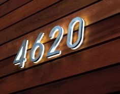 "The Modern Backlit 8"" Illuminated House Numbers are a medium size numbers. The 8 inch lighted house numbers are large enough to be seen from a far distance and when the edge and backlit illumination on it provides clear legibiity of the address..."