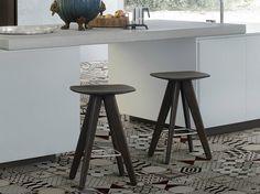 WOODEN STOOL / COFFEE TABLE ICS ICS-IPSILON COLLECTION BY POLIFORM   DESIGN RODRIGO TORRES
