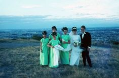 The pretty views in New Zealand. | 60 Adorable Real Vintage Wedding Photos From The '60s