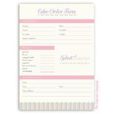 Download Wedding Cake Order Form Contratos Pinterest