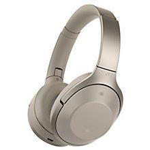 Sony MDR-1000X trådløse around-ear-hodetelefoner (krem)