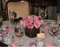 Ideas for centerpiece of baby girl's Christening