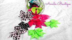 25 Mini hair bow/ Great For Newborns by AmalieBowtique on Etsy, $20.00
